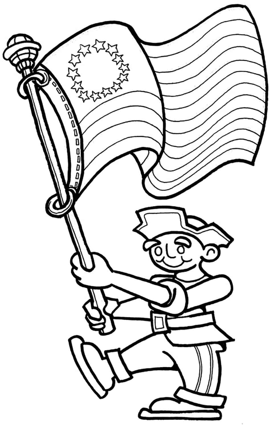 Free coloring pages for fourth of july - 4th Of July Coloring Flag
