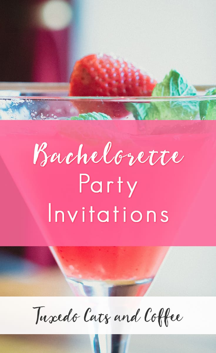These bachelorette party invitations are stylish and modern and pretty. We have a variety of styles of invitations for your bachelorette party, from modern chevrons like featured to the left and Las Vegas invitations and zebra print bachelorette party invitations. You'll be sure to find a bachelorette party invite that fits the theme of your party.