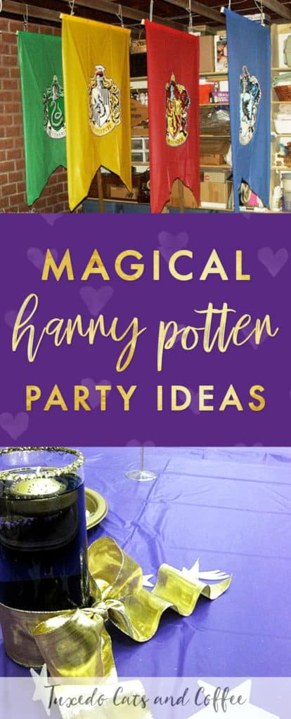 We held this Harry Potter party as an awards ceremony and end-of-the-year banquet for a group at a high school. This post will give you Harry Potter party ideas and show you how to hold your own Harry Potter birthday party and make all the decorations you need to transform your house or a banquet hall or any large room into the Hogwarts great hall, complete with an extra guide showing you how to make Harry Potter recipes like Honeydukes's sweets and other baked goods. Here is our ultimate Harry Potter party guide!