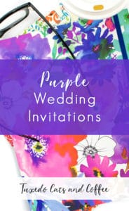 Invite your guests with beautiful purple wedding invitations. These purple wedding announcements are pretty and elegant as well as bright and fun. There are watercolor wedding invitations like the one featured here, purple swirls and damask, and lots more designs to choose from.