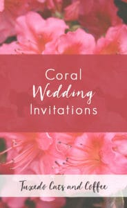 Invite guests to your wedding with beautiful coral wedding invitations. If you're planning your own wedding, online custom wedding invitations are an affordable way to go, especially coral wedding invitations.