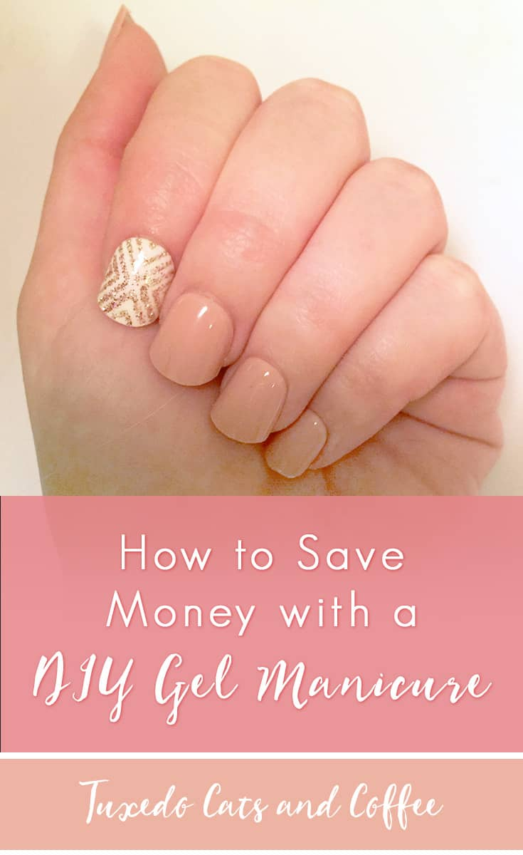 "A while back I decided to try out the whole ""gel manicure"" thing for a dinner party with friends by getting one of those nail kits from Target. I didn't really want to fork over $40+ for a special drying lamp to do an actual gel manicure, so here's how to save money with a DIY gel manicure."