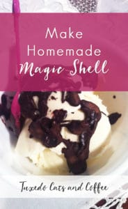 Making homemade Magic Shell (that chocolate sauce that hardens when you pour it over ice cream) is super easy and saves you from eating all those icky chemicals. You can also mix it together in seconds. I'll show you how!