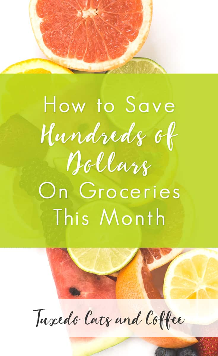 Here's a trick I use once in a while to literally save hundreds of dollars on groceries. Now, this isn't something you can use every single month, but from time to time it's a great way to save a lot of money. This would also be perfect for implementing during a no-spend month in case you wanted to put extra money into savings or paying down debt.