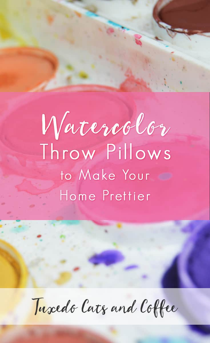 If you'd like to add a pretty, feminine touch to your home, try adding some of these beautiful watercolor throw pillows. These watercolor throw pillows will make your home so much prettier and more welcoming! Adding a watercolor print to your home decor also makes your home look a little artsier. :)