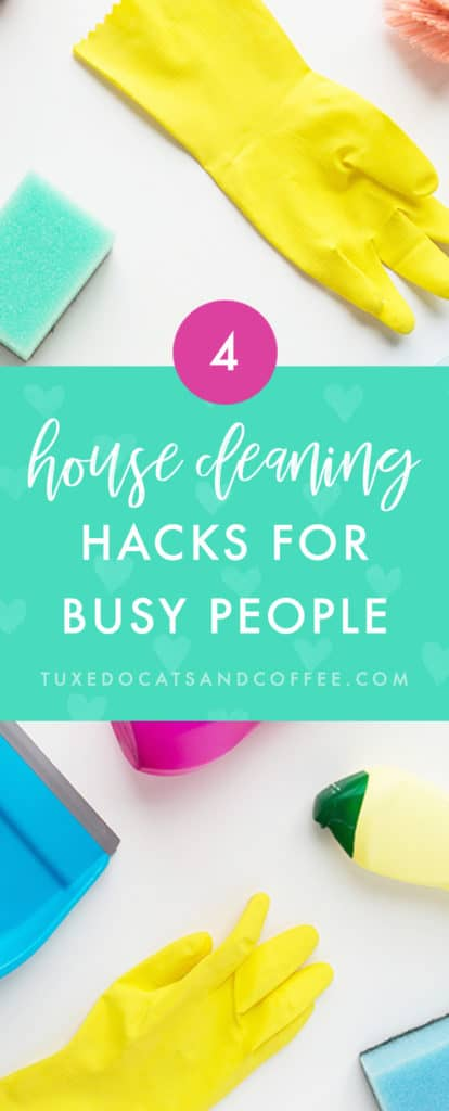 When you're a busy person, whether than means working a full time job, being an entrepreneur, or something else that takes up a lot of time, you can't afford to spend hours a day cleaning your home. Read on to learn some of my not-mom-approved cleaning hacks for a neater house in no time, so you can get back to work! Here are my house cleaning hacks for busy people.