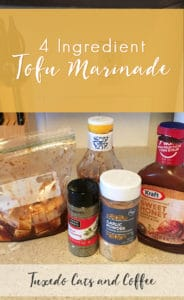 This 4 ingredient tofu marinade is super simple and takes only minutes to whip up! It's a nice, general marinade and sauce that you can use over tofu on its own or even over a bed of rice noodles. I even snacked on the sauced tofu straight out of the bag when I was making it. 😃