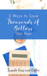 When it's spread out over a whole year, you really don't have to cut your expenses by that much per month in order to save thousands of dollars this year. Just a couple hundred per month will do it! Here are 5 ways to save thousands of dollars this year. Here, we're going for the big wins. 😃
