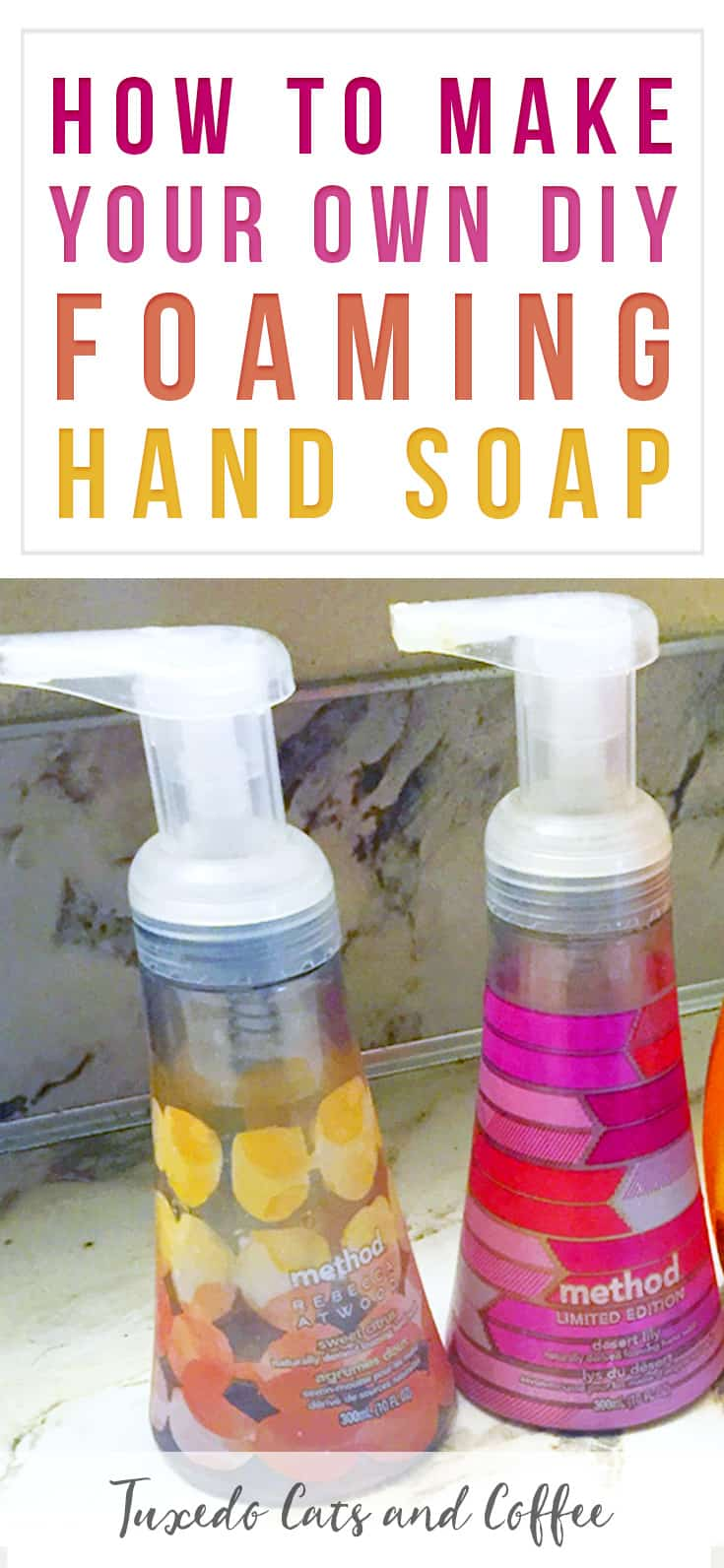 It's easy to make your own DIY foaming hand soap once you know the secret. 😃 In this quick post I'll show you how to make your own DIY foaming hand soap for just pennies per refill so you can save money!