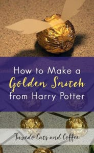 How to Make a Golden Snitch from Harry Potter