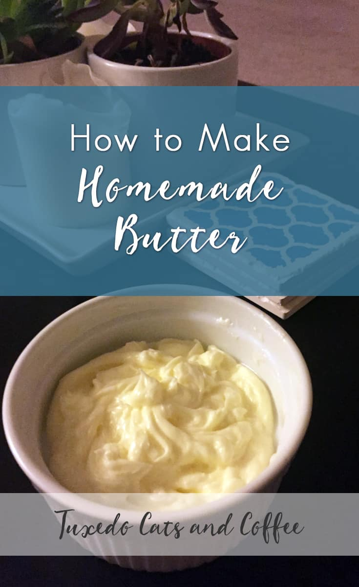 How to Make Homemade Butter - Tuxedo Cats and Coffee