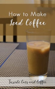 Making your own iced coffee at home is a surprisingly simple and frugal way to get your coffee fix! Here's how to make iced coffee.