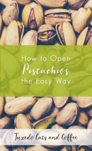 Last night I discovered the most life-changing life hack ever - how to open pistachios without resorting to a sledgehammer or worse. Here's how to open stubborn pistachios the easy way (or for all your pistachios).