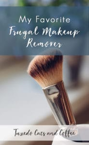 Commercial makeup removers can get quite pricey for a tiny little bottle that's mostly water. Instead, here's my favorite frugal makeup remover that also happens to be natural.