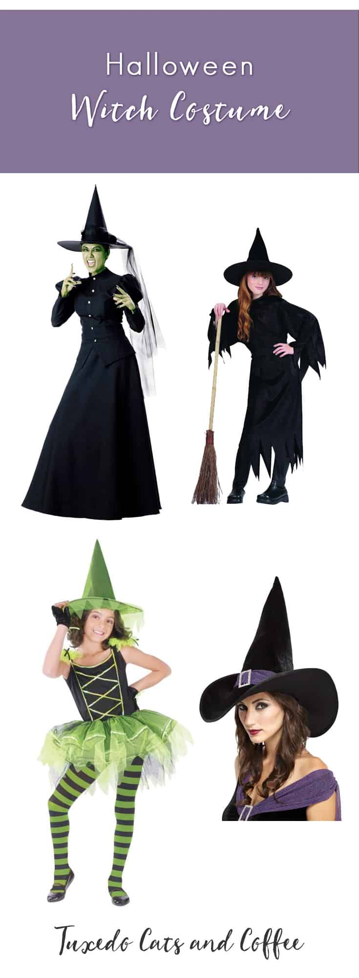 Halloween Witch Costume - Tuxedo Cats and Coffee