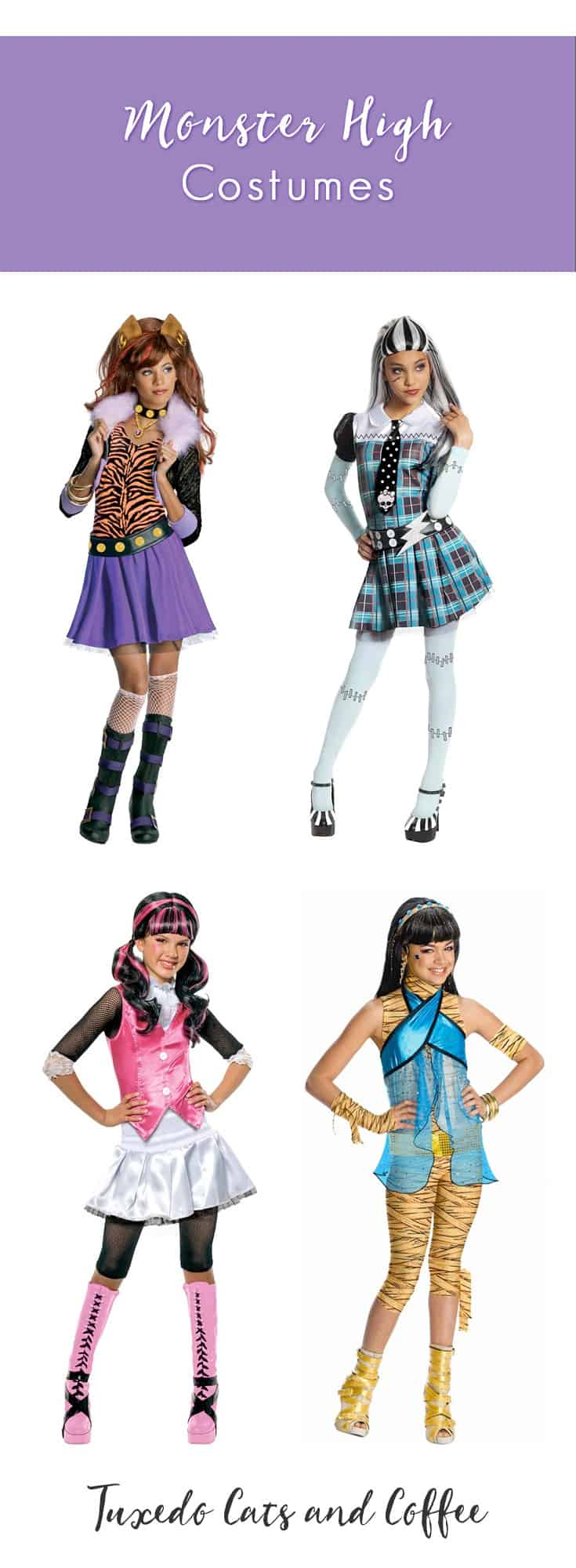 monster high costumes - tuxedo cats and coffee
