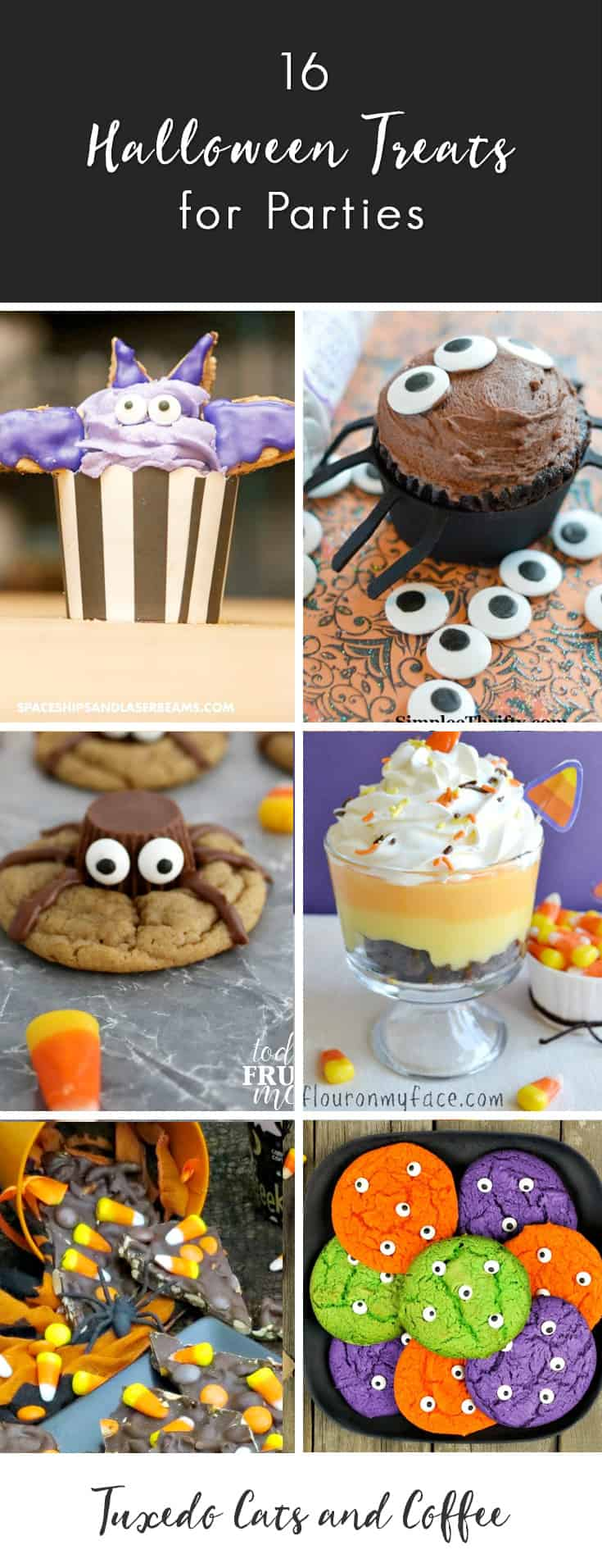 These Halloween desserts and recipes are the perfect Halloween treats for your next costume party or Halloween party. You could also serve Halloween treats instead of candy or at a post-trick-or-treating celebration. Whatever the situation, these delicious Halloween desserts are a spooky and festive addition to your scary night!
