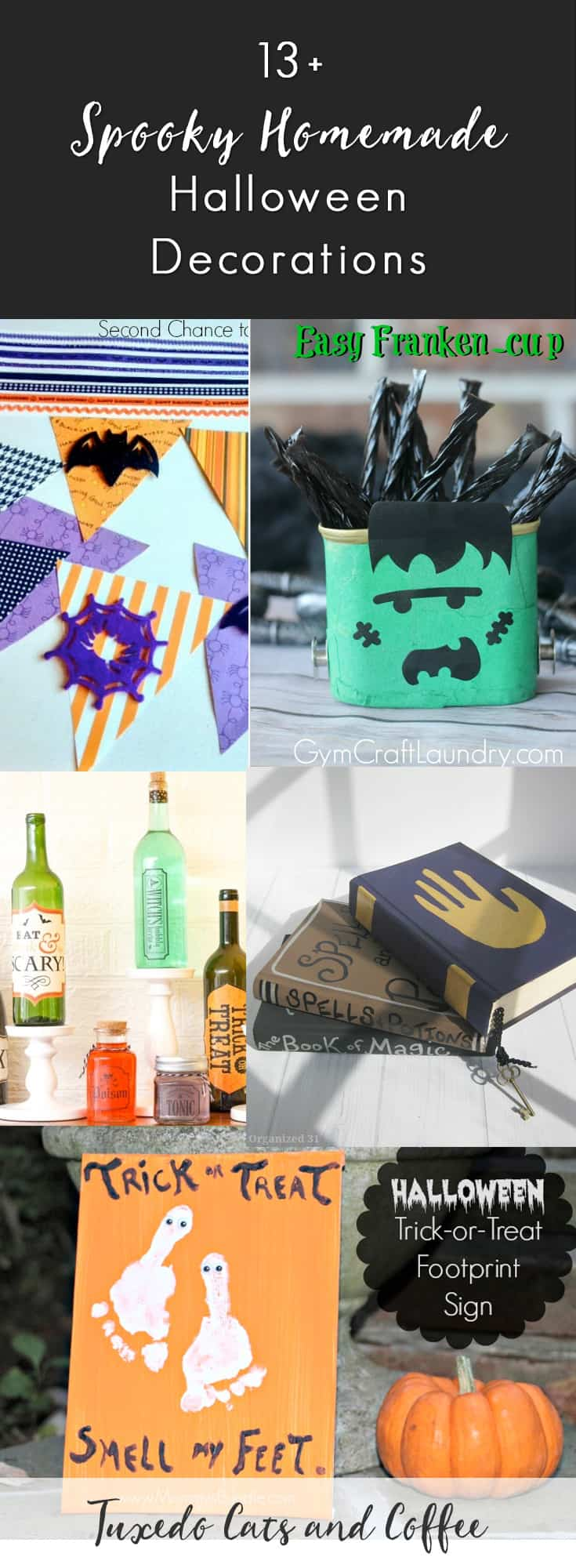 Halloween is coming up soon and it's a great time to decorate! These 13+ spooky homemade Halloween decorations will help you decorate the inside and outside of your home for Halloween without breaking the bank. There are Halloween decorations with spiders, ghosts, witches, pumpkins, garlands, chandeliers, and more!