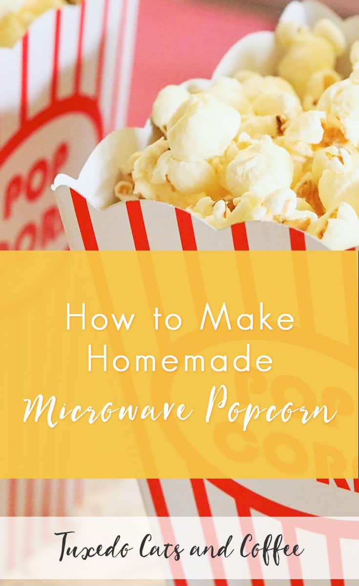 I love eating popcorn, but the regular microwave popcorn they sell at stores has a lot of chemicals and can be pretty pricey per bag. So, I set out to discover how to make my own homemade popcorn (with as little effort as possible, of course :)), and found a super easy way to make your own homemade microwave popcorn!
