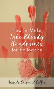 How to Make Fake Bloody Handprints for Halloween
