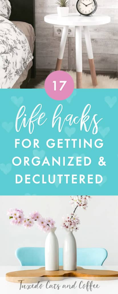 What would it take to get your life decluttered and organized? That might be a tall order for many of us, but the truth is, we could do it in bursts and spurts, using a handful of easy-to-follow rules. The other day I wrote about the idea of setting rules instead of goals … today I want to share 17 life hacks for getting organized and decluttered.