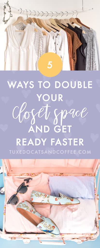 Taming a closet full of clutter can be a fearful thing. It's overwhelming, and we imagine it being a feat of herculean proportions, taking weeks if not decades. Here are 5 simple steps to declutter your closet.