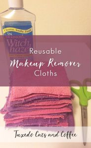 Making your own reusable makeup remover cloths is a great way to not only save your wallet but also save the environment. It only takes a few supplies and a couple minutes to make your own reusable makeup remover cloths.