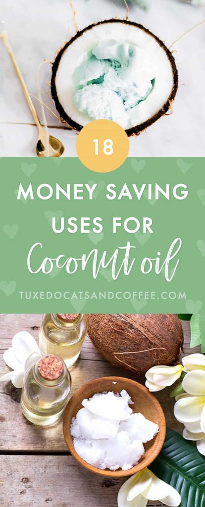 Coconut oil is an awesome multi-tasking natural oil that can be used as food, in beauty products and regimens, and even in your home in so many different ways! Here are 18 natural money saving uses for coconut oil.