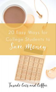 20 Easy Ways for College Students to Save Money