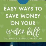 6 Easy Ways To Save Money on Your Water Bill