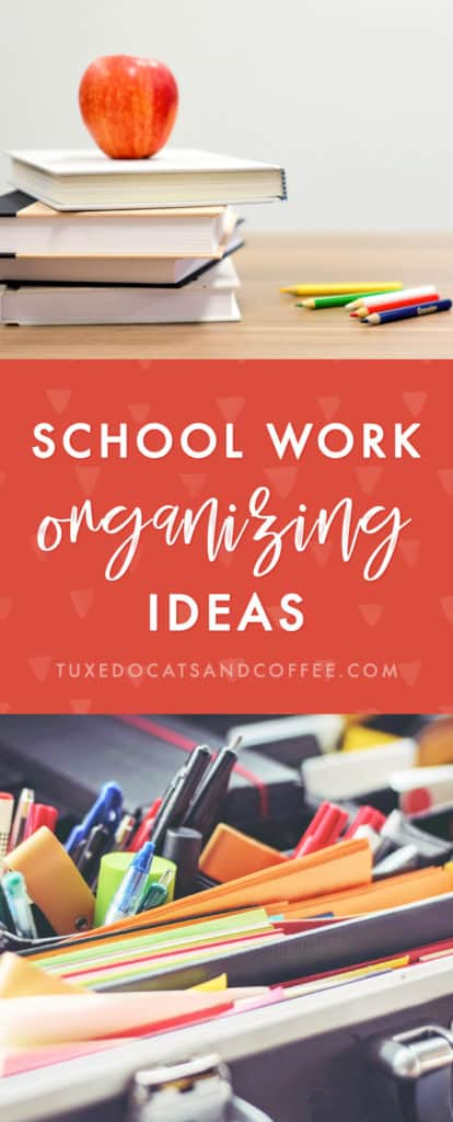 Recently when I was at home over Christmas I decided to go through my old stuff at my parents' house - including some things from childhood, like old school work - and declutter and organize a lot of it. Here's how to organize school work and school work organizing ideas.
