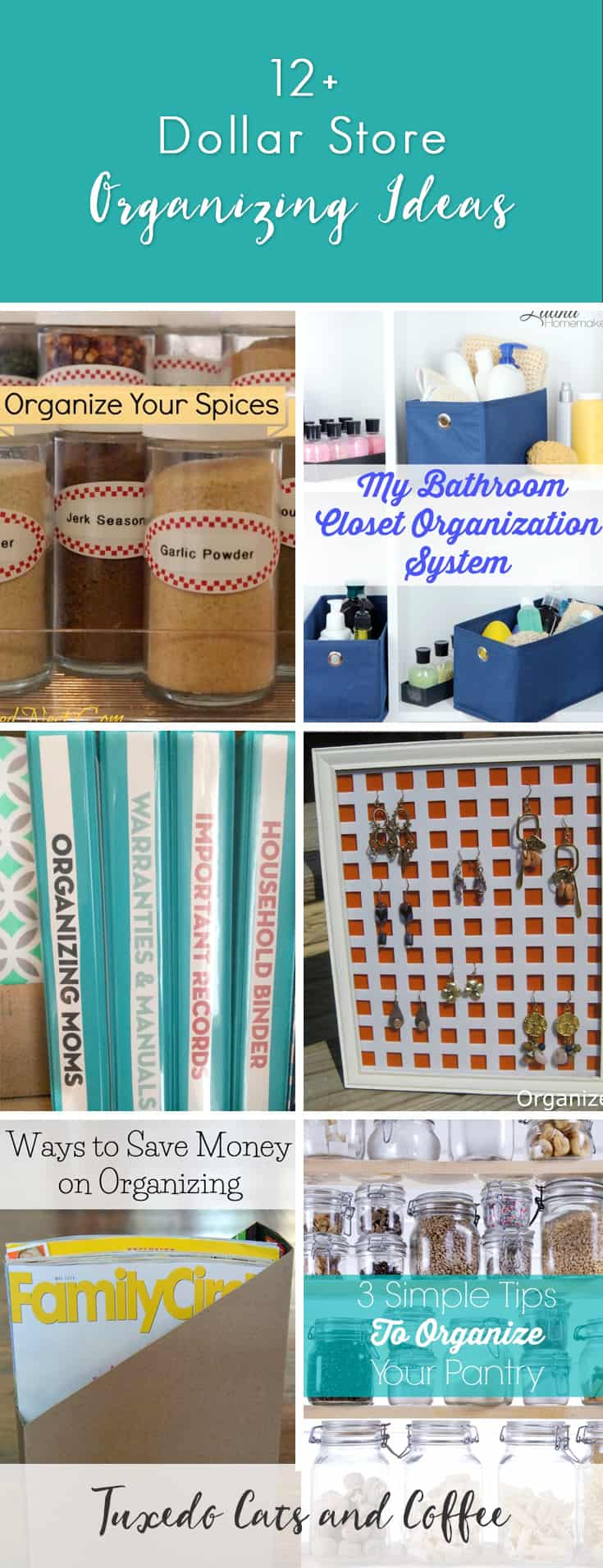 Organizing your home doesn't have to cost a ton of money. In fact, there are many Dollar Store organizing hacks that you can do for just $1 per container or with items you already have at home. Here are a bunch of dollar store organizing ideas from blogs across the web.