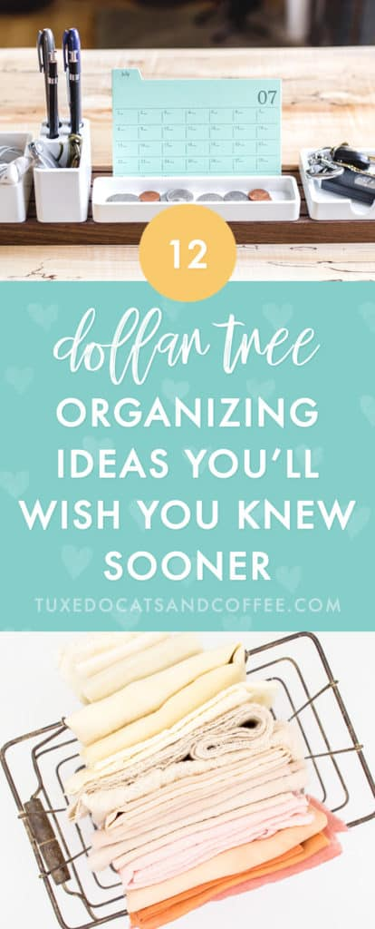 Organizing your home doesn't have to cost a ton of money. In fact, there are many Dollar Store organizing hacks that you can do for just $1 per container or with items you already have at home. Here are a bunch of dollar store organizing ideas and Dollar Store organizing hacks from blogs across the web.