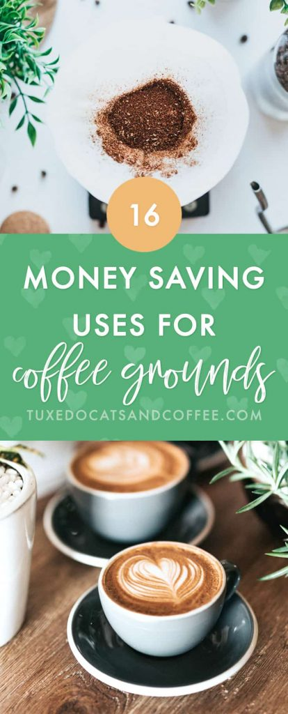 Wondering if there's a way to upcycle your used coffee grounds instead of just throwing them in the trash? Here are 16 money saving uses for used coffee grounds to reuse and recycle!