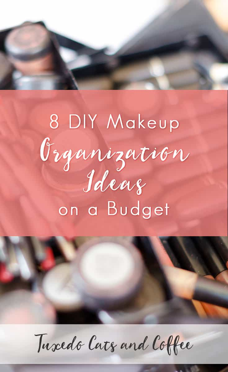 Is your makeup piled into drawers randomly or cluttering up your countertops? Here are 8 DIY makeup organization ideas on a budget to help you tame the clutter and make your makeup collection look a lot prettier and more usable.