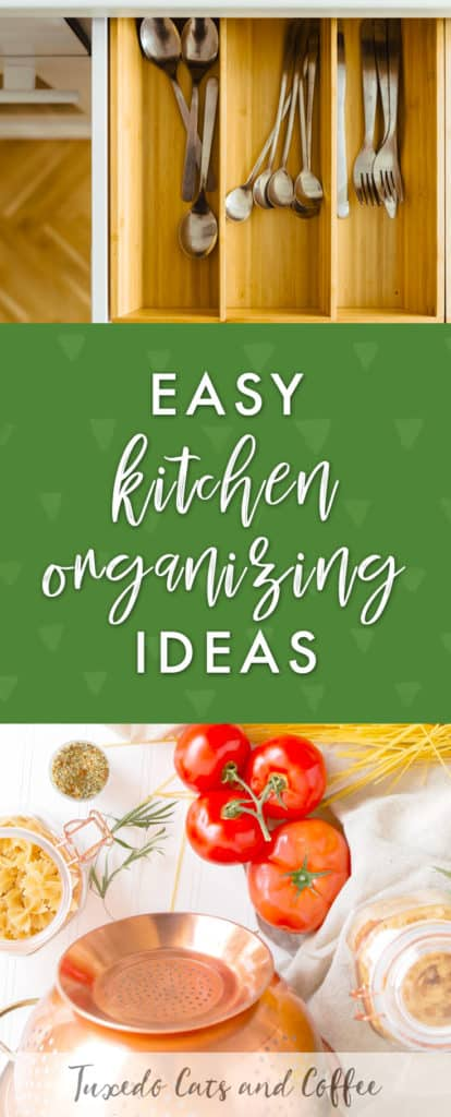 Is your kitchen a chaotic mess? Do you have trouble finding where things are or having no counter space to prepare meals because there's stuff everywhere? Here are 9 kitchen organizing hacks and ideas for a neater, better organized kitchen space.