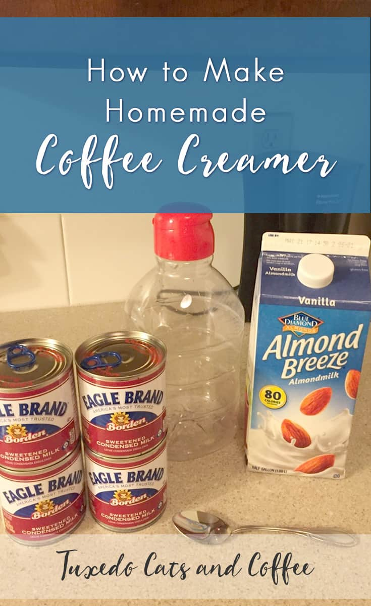 how to make homemade coffee creamer - tuxedo cats and coffee