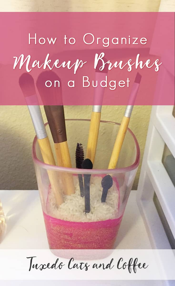 Do you have makeup brushes lying around getting dirty or smushed because they're trapped in some drawer? There's a better way to store your makeup brushes, and it doesn't cost much. Here's how to organize makeup brushes on a budget.