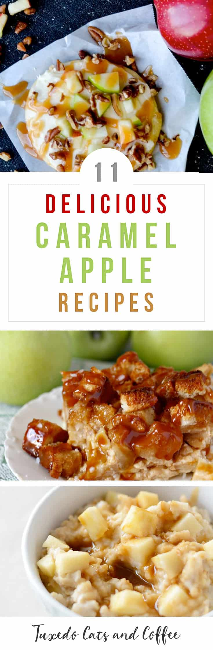 If you love caramel apples or candy apples, then you'll LOVE these delicious caramel apple recipes perfect for fall and autumn or any time you want a comforting dessert. These recipes are inspired by caramel apples.