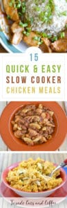 Want a simple set-it-and-forget-it chicken entree ready for dinner? Try these chicken slow cooker recipes! Here are 15 easy crockpot chicken recipes for dinner.