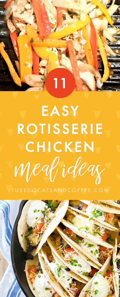 Are you looking for a cheap and easy weeknight chicken meal idea using a rotisserie chicken to speed things up even more? Here are 11 delicious rotisserie chicken meal ideas for your next dinner!
