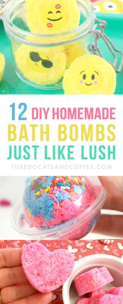 how to make homemade bath bombs like lush