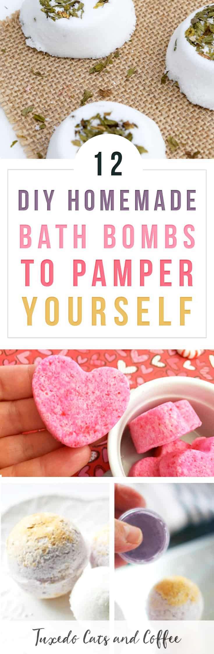 I recently picked up a super cute party cake-themed bath bomb from Target that was yellow and pineapple scented with rainbow sprinkles on top. Super cute! Did you know you can actually make your own bath bombs at home with just a few ingredients? Here's how to make 12 DIY homemade bath bombs to pamper yourself, or how to make homemade DIY Lush bath bombs.