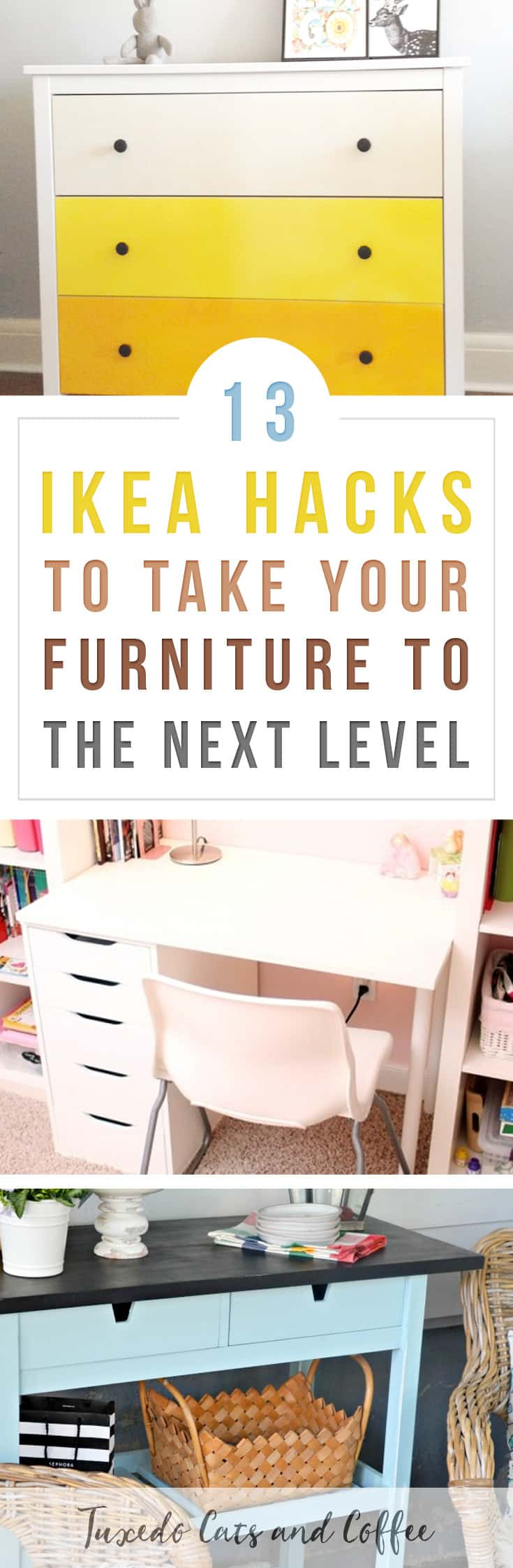 With a destructive tuxedo cat and a propensity for being clumsy and spilling things myself, I prefer to keep my apartment furnished with budget-friendly furniture that I don't have to worry about too much. I love Ikea furniture, but sometimes you want home decor that looks more unique or matches the rest of your decorating. Here are 13 Ikea hacks to take your furniture to the next level.