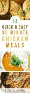 Need a quick and easy weeknight dinner that's budget friendly, easy to make, and fills you up? Check out these 14 amazing 30 minute chicken meals for a quick chicken dinner.