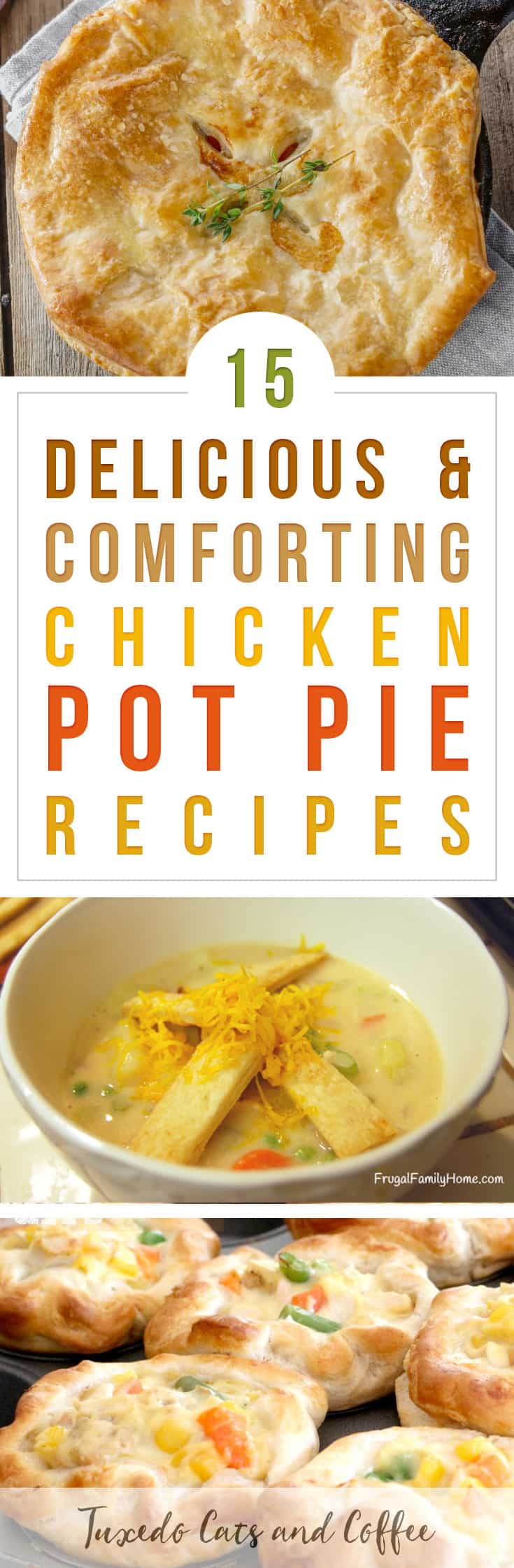 Love the flavors of chicken pot pie? We have a list of plenty of original chicken pot pie recipes as well as variations like chicken pot pie puffs, chicken pot pie soup, and more. Here are 15 delicious and comforting chicken pot pie recipes.