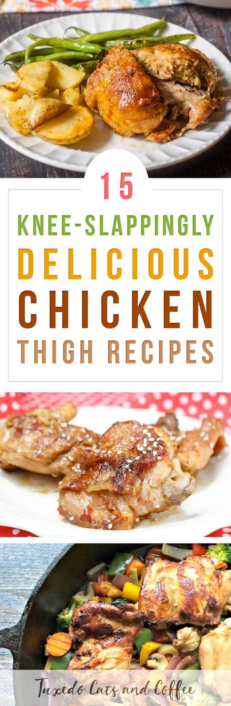 Looking for a juicy and flavorful chicken meal idea for dinner? Here are 15 knee-slappingly delicious chicken thigh recipes. (See what I did there? We're talking about chicken 'thighs' so I said 'knee'-slapping? Ok then. I think that qualifies as a Dad joke... ;))