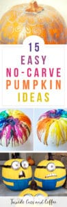 Want to decorate for Halloween with a pumpkin but don't want to deal with the mess, carving, and all the pumpkin guts? Here are 15 easy no carve pumpkin ideas that anyone can make.
