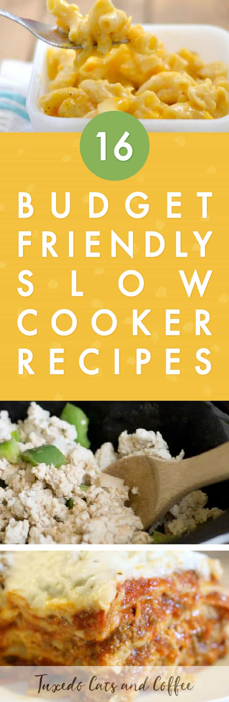 Looking for a quick and simple crockpot recipe for dinner? Here are 16 cheap and easy slow cooker recipes perfect for a main course or entree.