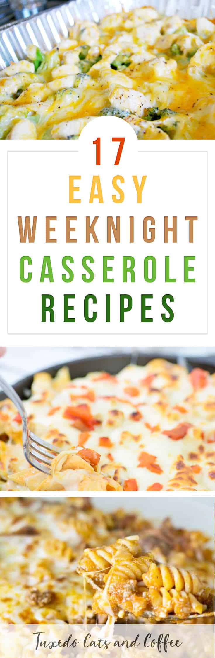 Need a quick, filling, and delicious meal for a weeknight dinner? Here are 17 easy weeknight casserole recipes, or cheap and easy casserole meal ideas.